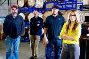 JOhn Ufford (left) with Indio Distillery crew