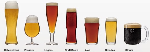 Euro Beer Glass Styles