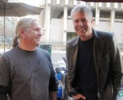 Jim Pittenger and friend, Tony Bourdain