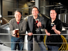 Three Other Bastards: Stone's Steve Wagner, Greg Koch, and brewmaster Mitch Steele.