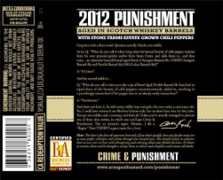 "Stone ""Punishment"" Back Label with Certification Symbol"