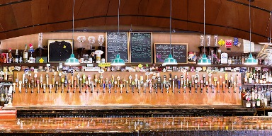 Just some of the taps and Falling Rock Taphouse