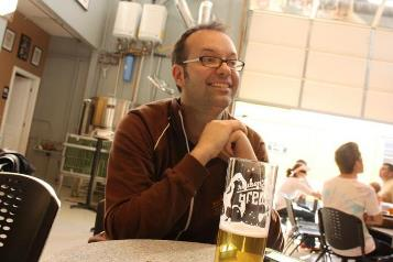 Brewmaster Adam Robbings, of WA's best brewery, Reuben's Brews/Photo by Ballard News Tribune
