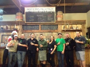 The happy clan at San Diego's stellar new Societe Brewing