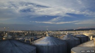 Tank farm at Yellow Tail - ALL made exactly like your favorite artisan wine