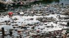 Tragically typical scene of water surrounding Rio